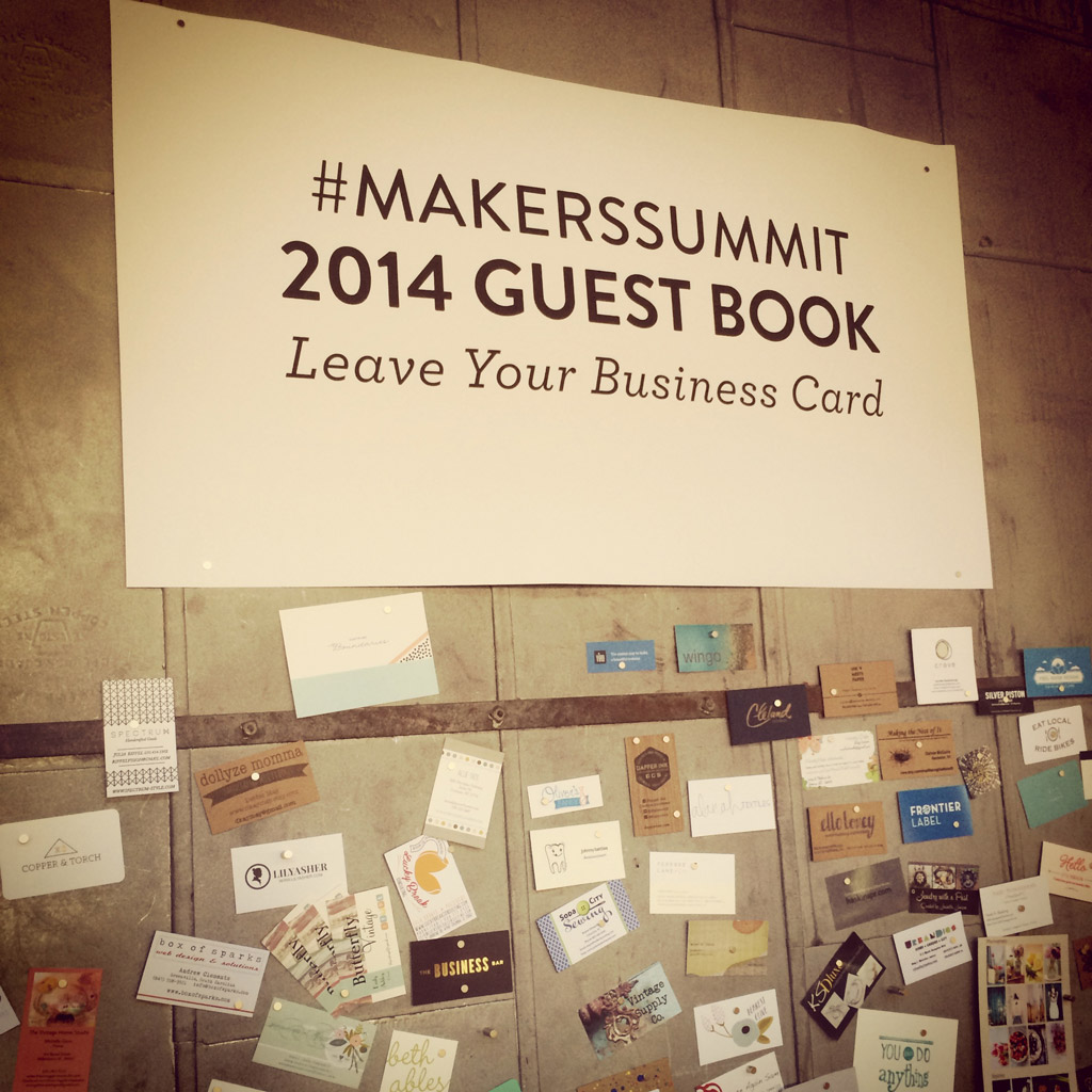 The Maker's Summit Guest Book